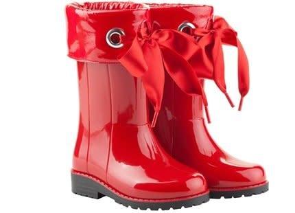 igor Igor Campera Ribbon Tie Rainboot - Red