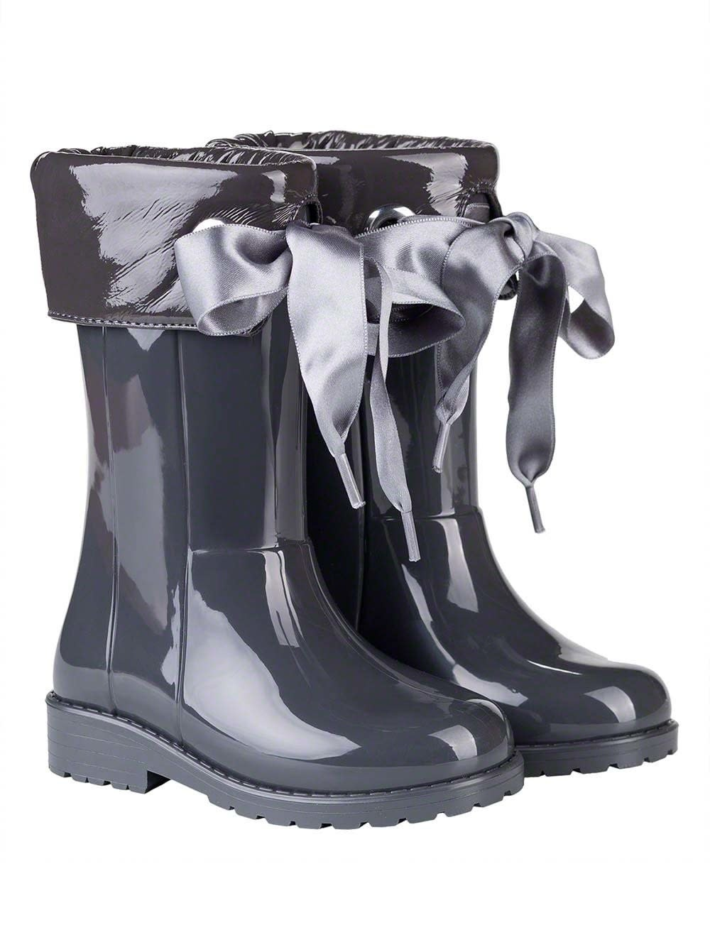 igor Igor Igor Campera Ribbon Tie Rainboot - Grey