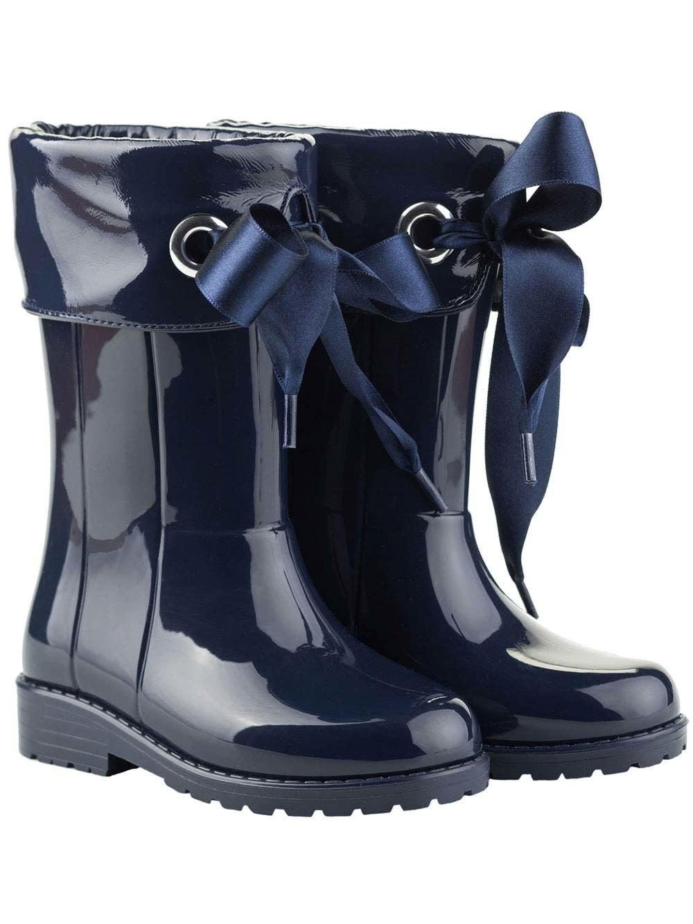 igor Igor Campera Ribbon Tie Rainboot - Navy