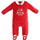 Ido Ido Red Velour Christmas Romper Newborn