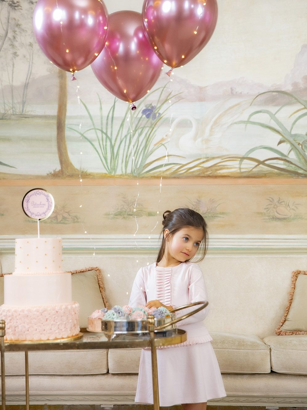 Patachou Patachou Pink Dress With Pleated Skirt