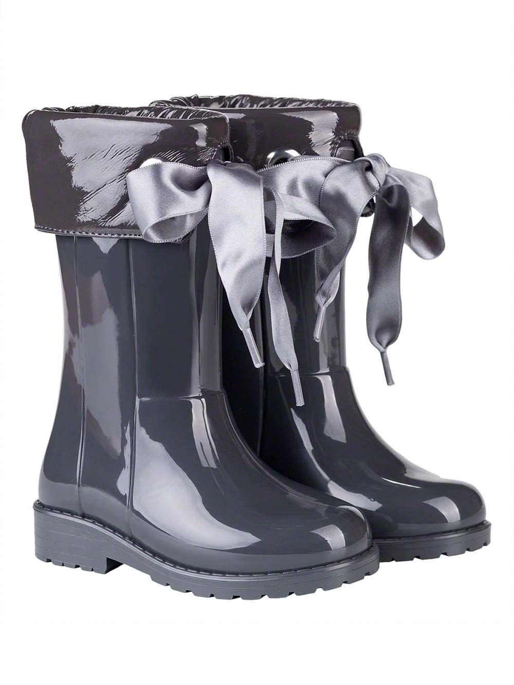 igor Igor Igor Campera Ribbon Tie Rainboot - Grey