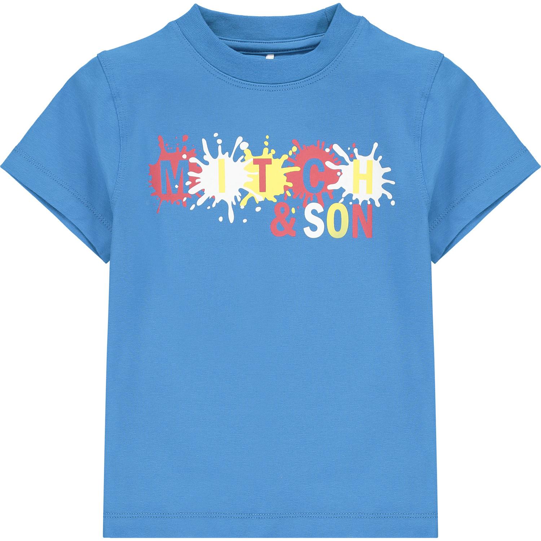 Mitch and Son Mitch & Son Castle Paint Splash T-shirt Blue