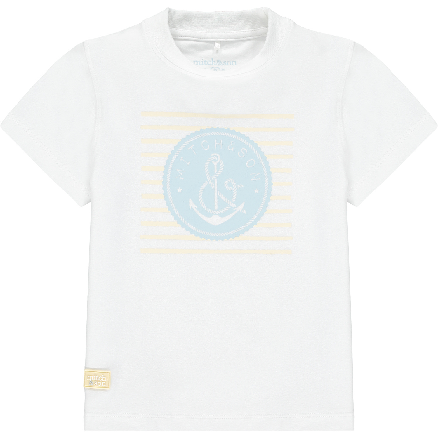Mitch and Son Mitch & Son Byres White Anchor T-shirt