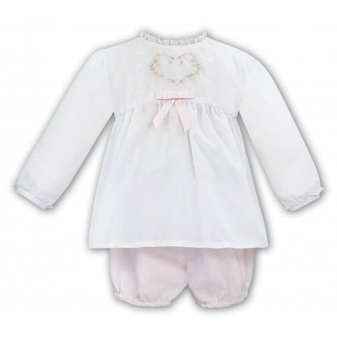 Dani SARAH LOUISE & DANI Girls Pink and White Shorts Set