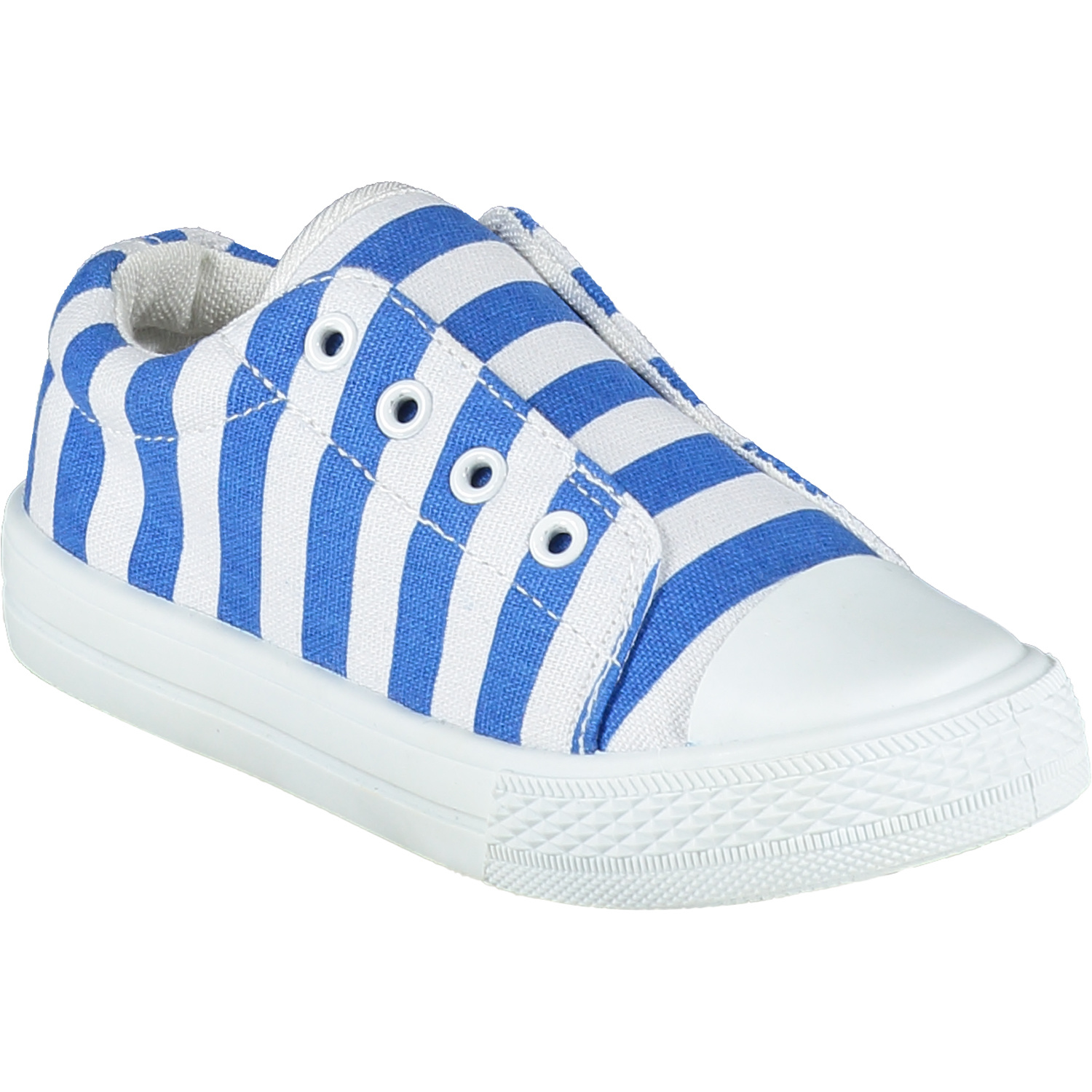 Adee Adee Laceless Blue Printed Canvas Trainer