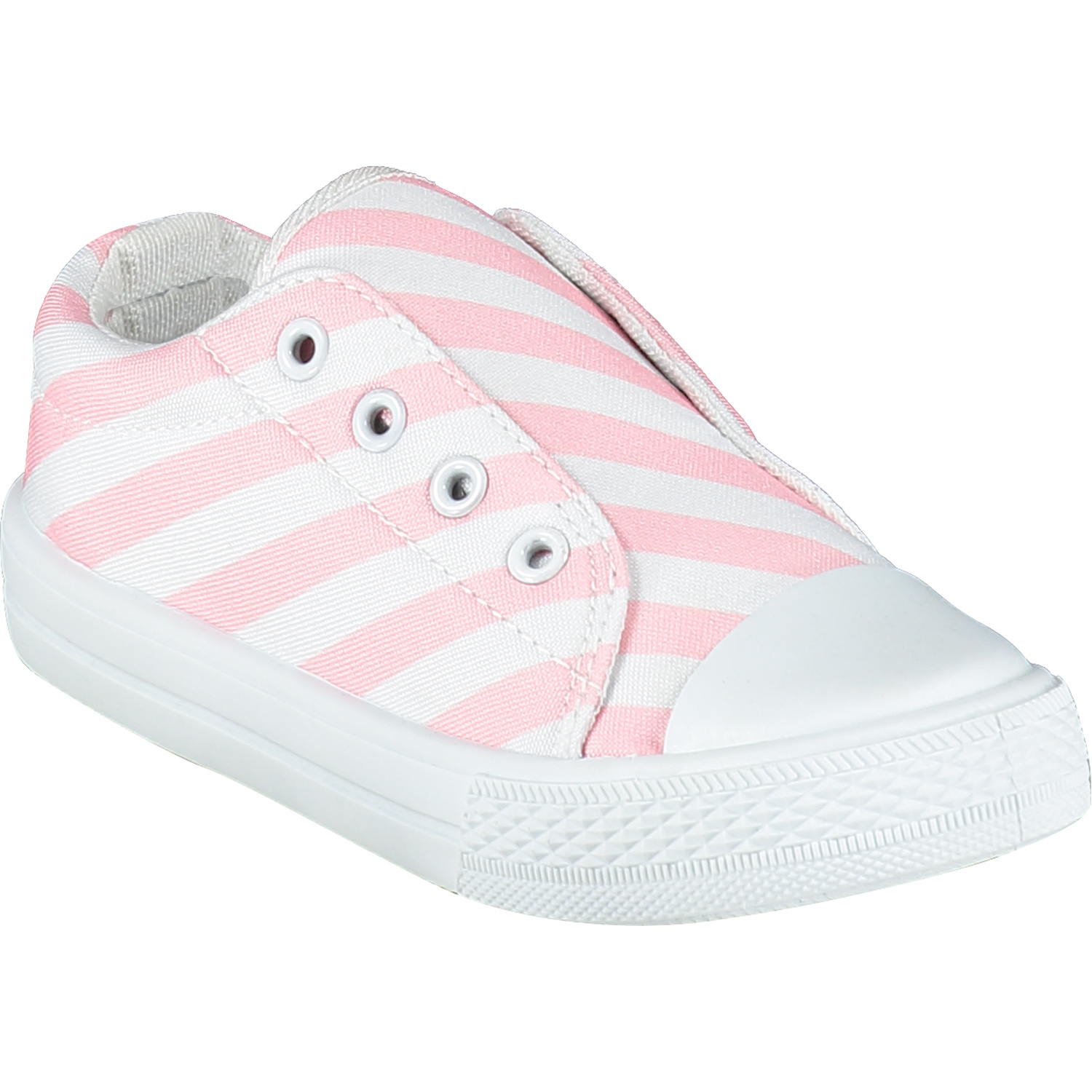 Adee Adee Laceless Printed Canvas Trainer Pale Pink