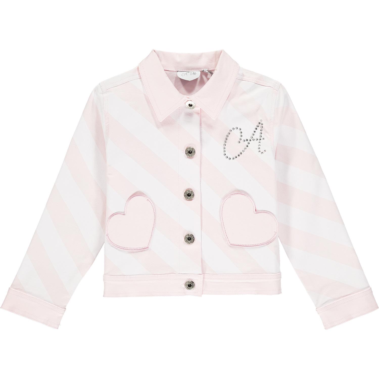 Adee Adee Orlagh Stripe Denim Jacket