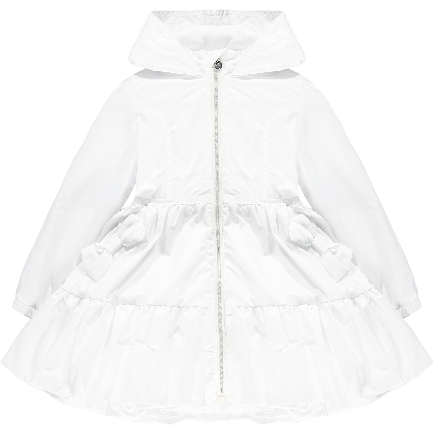 Adee Adee Lacey Wide Frill Bow Jacket White