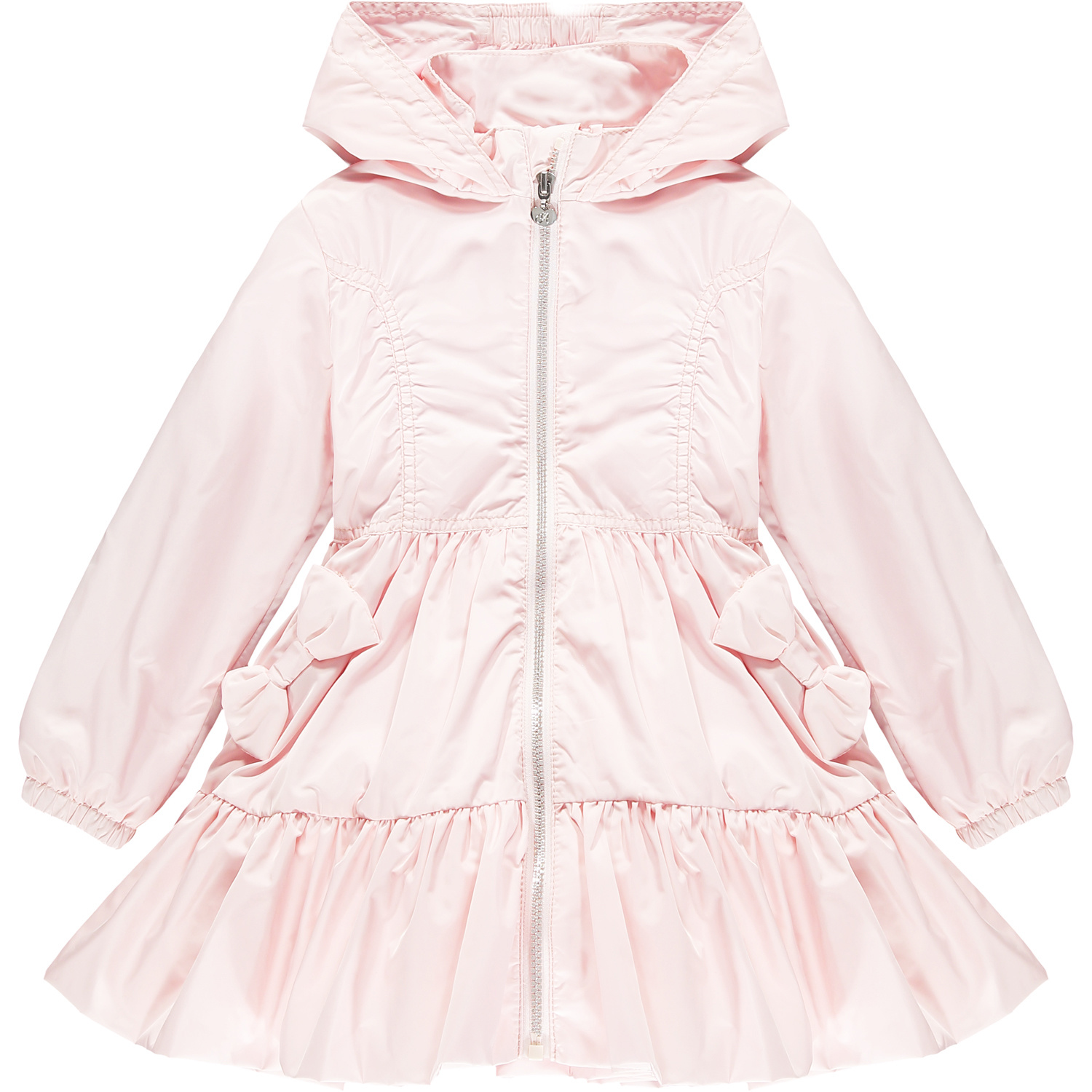 Adee Adee Lacey Wide Frill Bow Jacket Pink