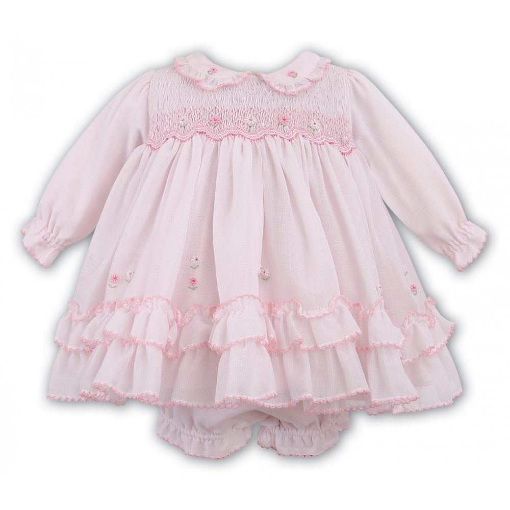 Sarah Louise Sarah Louise Smocked Frill Dress 9982 - 6 Months