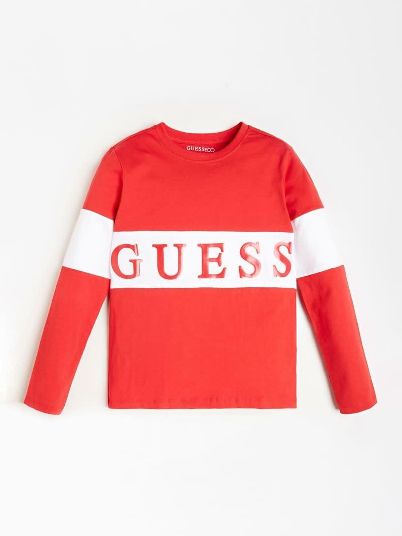 Guess Boys Logo Red T-shirt