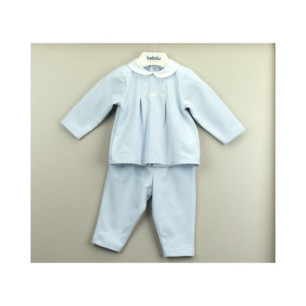 Babidu Babidu Pale Blue Top and Trouser Set 65120 SS21