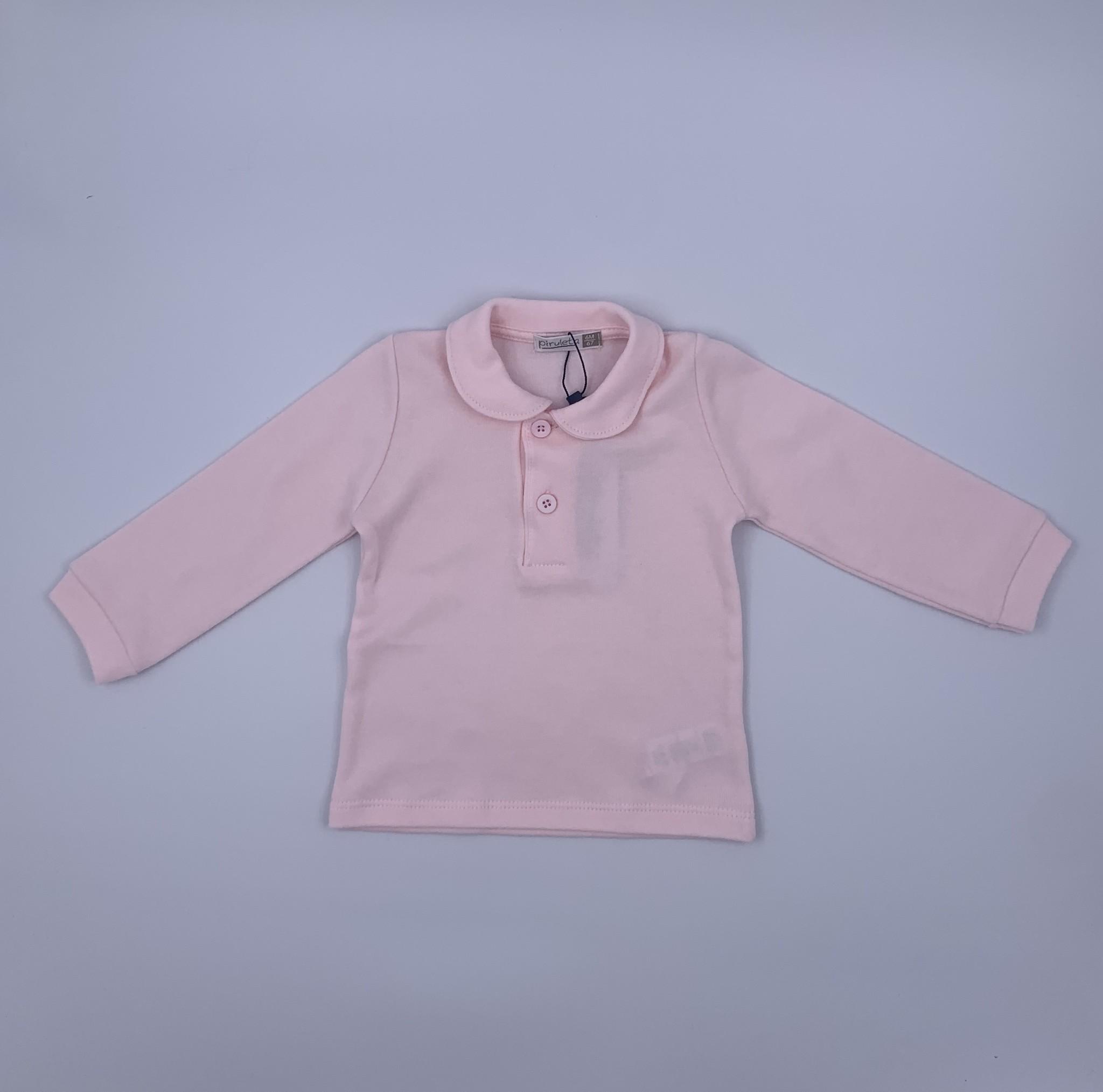 Piruleta Piruleta Pale Pink Button Front Top