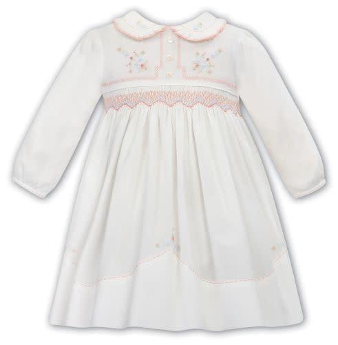 Sarah Louise Sarah Louise Smocked Pink Collar Dress 012051 12Months
