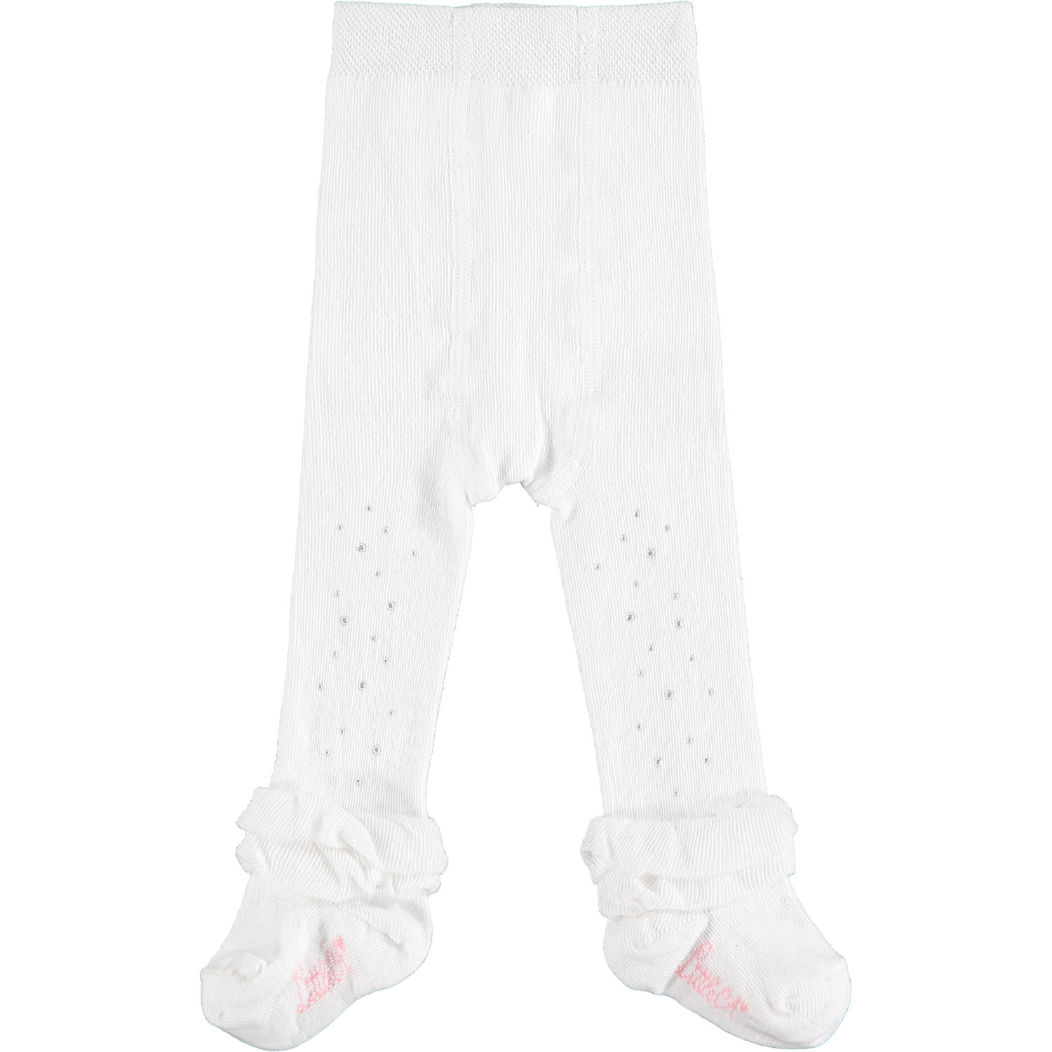 ADee Baby Little A Issie White Baby Tights 2 (6-9 MONTHS)