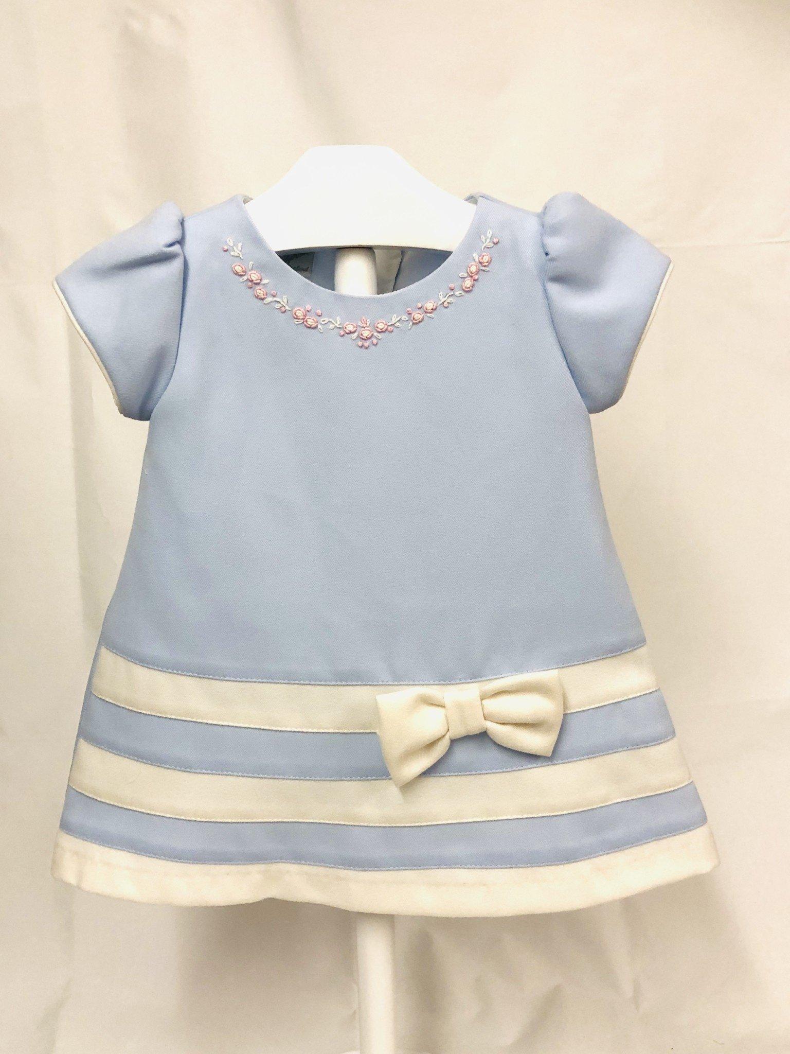Pretty Originals Pretty Original BD01981 Blue Dress & White Bow