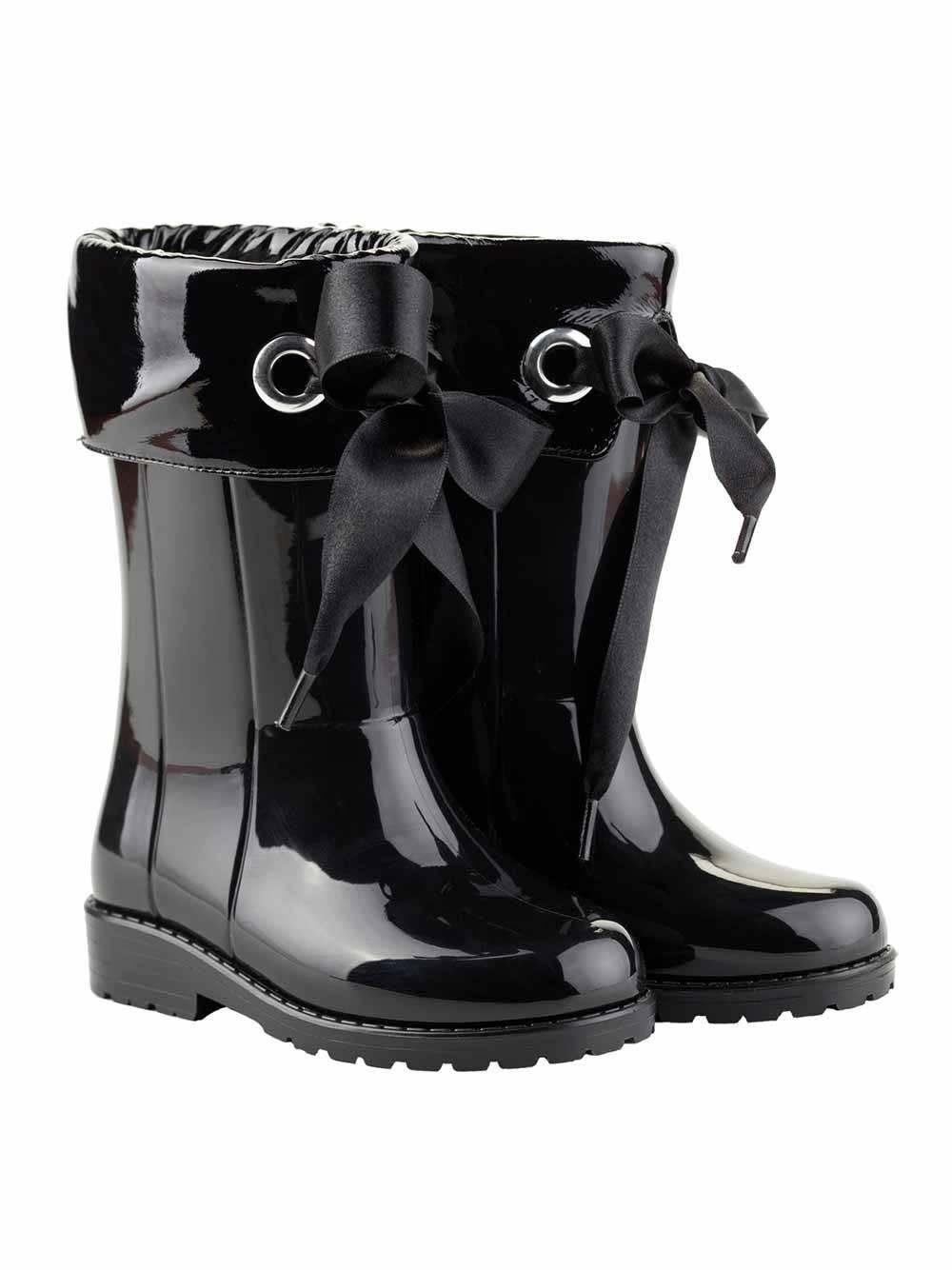 igor Igor Ribbon Tie Rainboot - Black