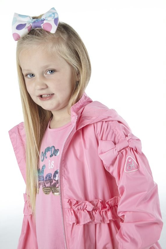 Adee Adee Nino Short Pink Candy Puffball Jacket