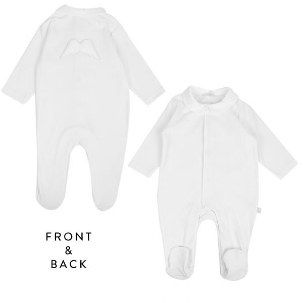 Baby Gi Baby Gi White Angel Babygrow