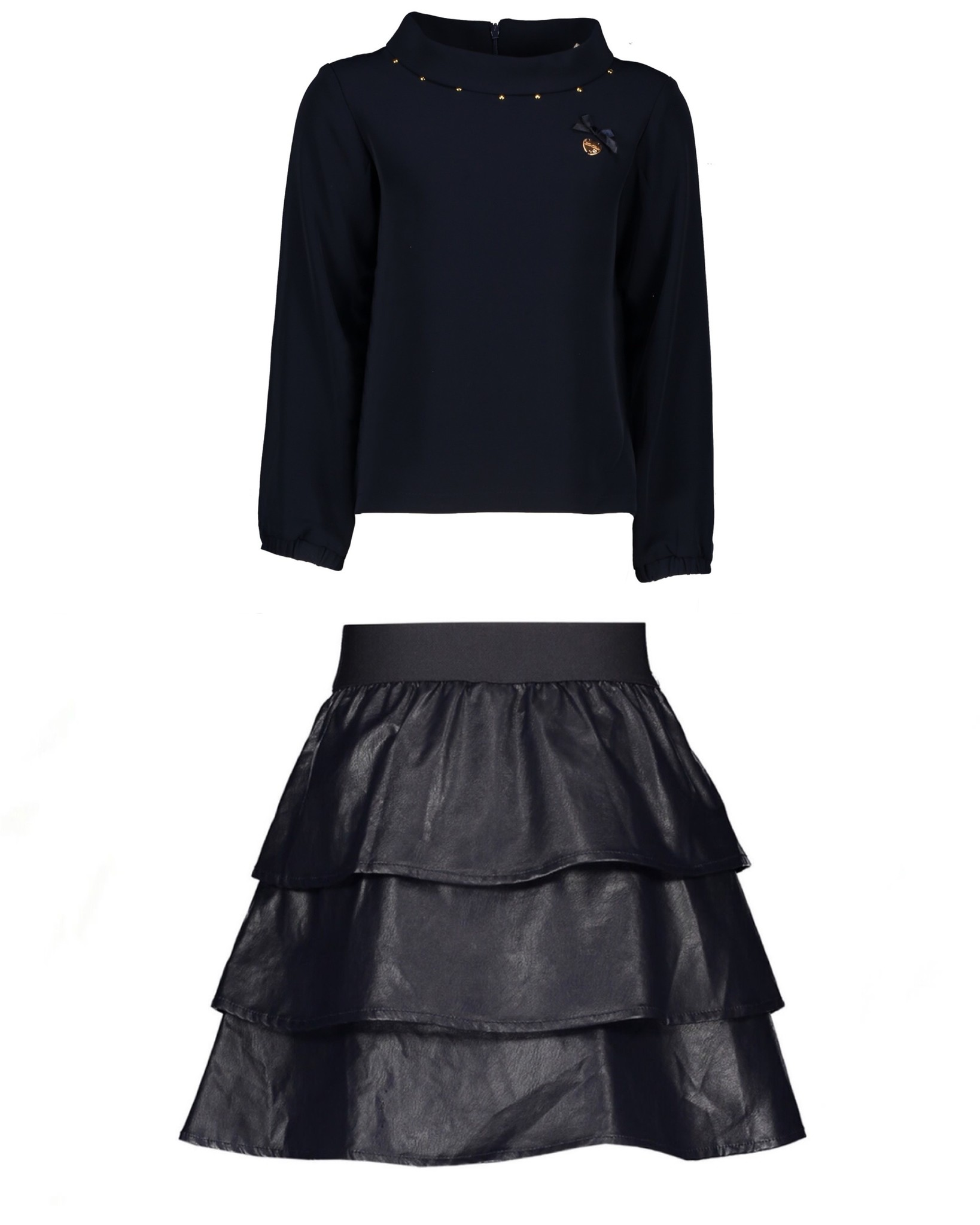 Lechic Le Chic Navy Blouse / Skirt Set SIZE 8-10YRS