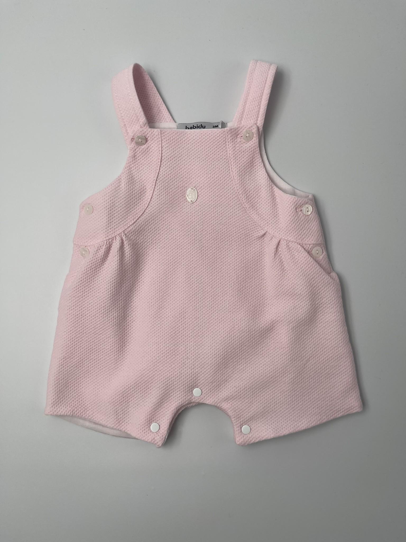 Babidu Babidu Pink Girl Dungaree 34340 SS21