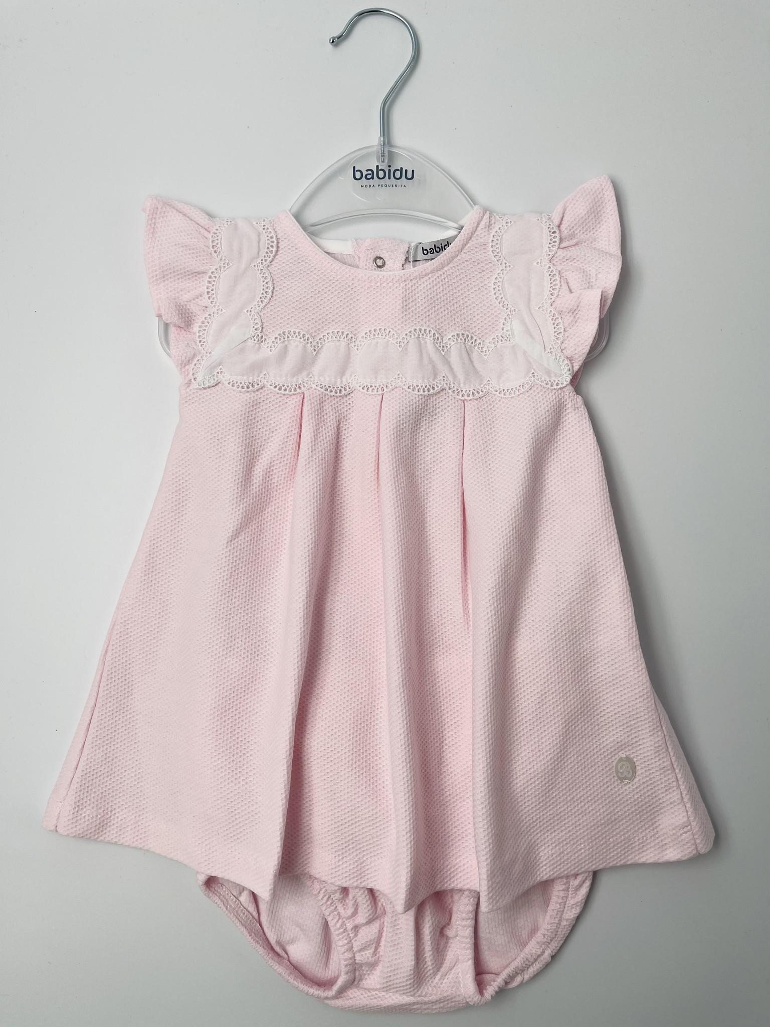 Babidu Babidu Pink Embroidered Dress 44340 SS21