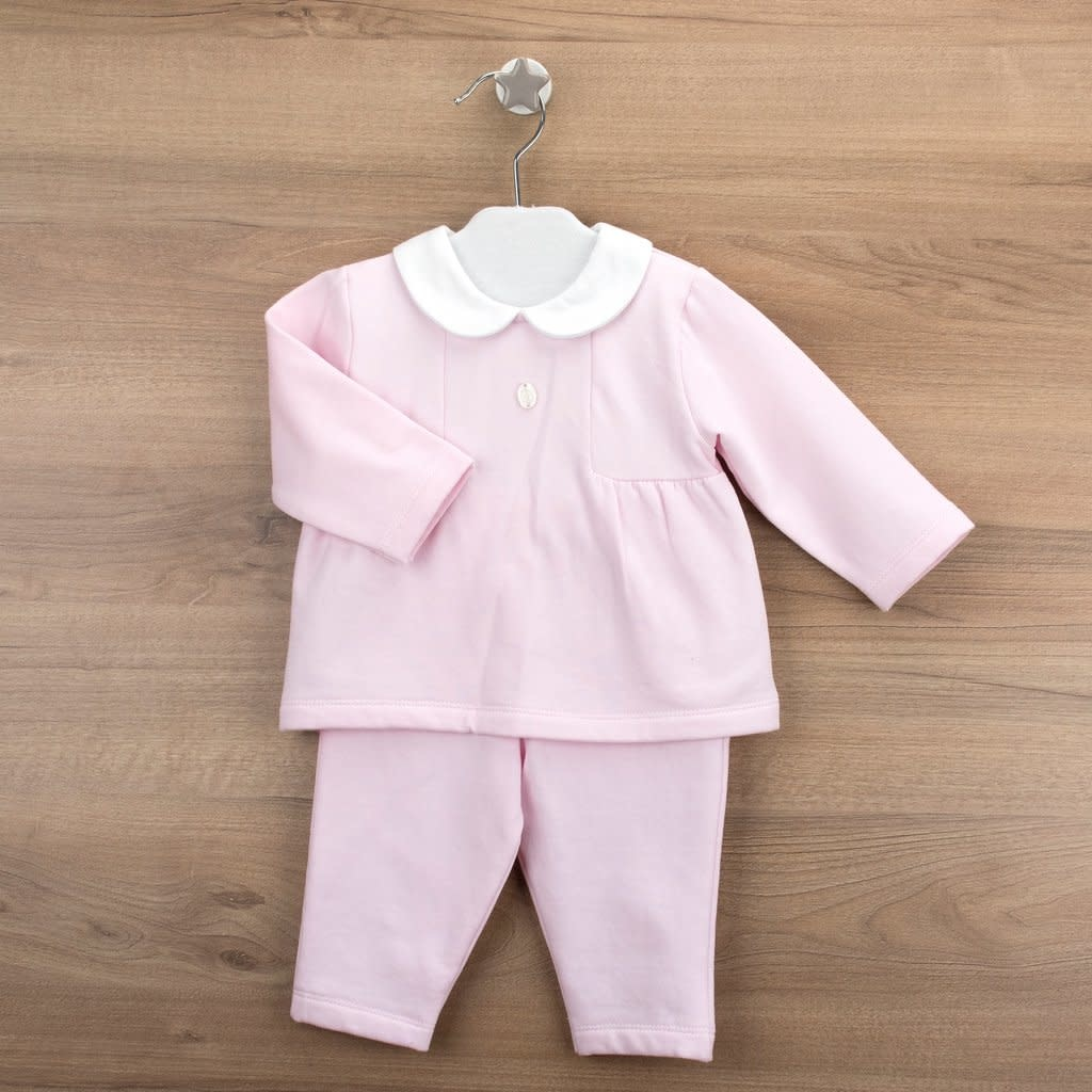 Babidu Babidu 19504 Pink with white collar 2 Piece AGE 3