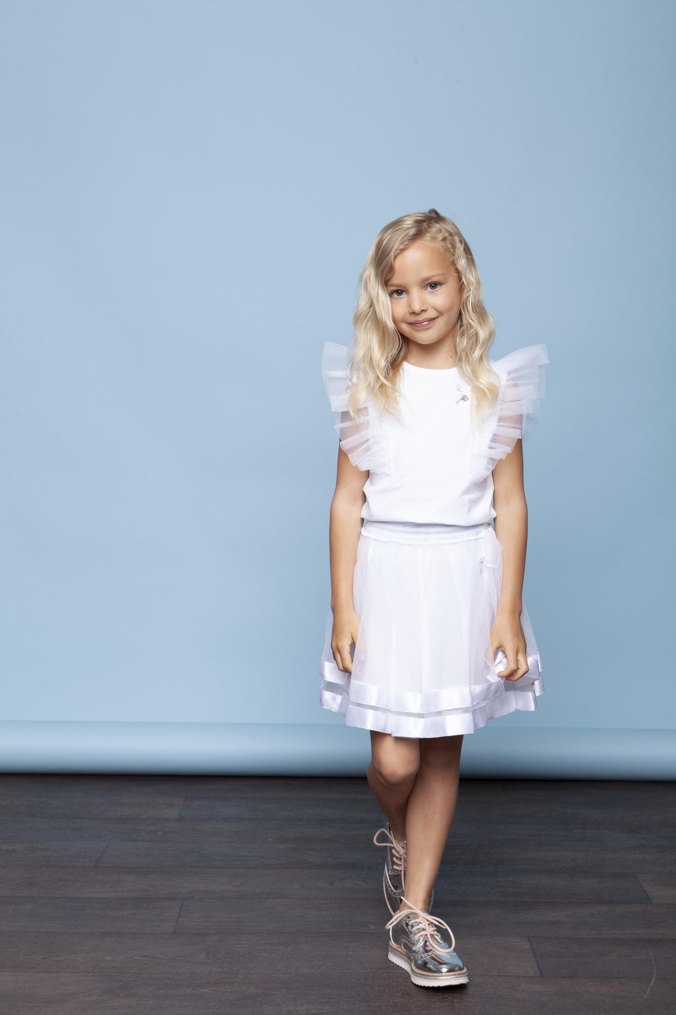 Lechic Le Chic White Petticoat Satin Hem - Age 5-6
