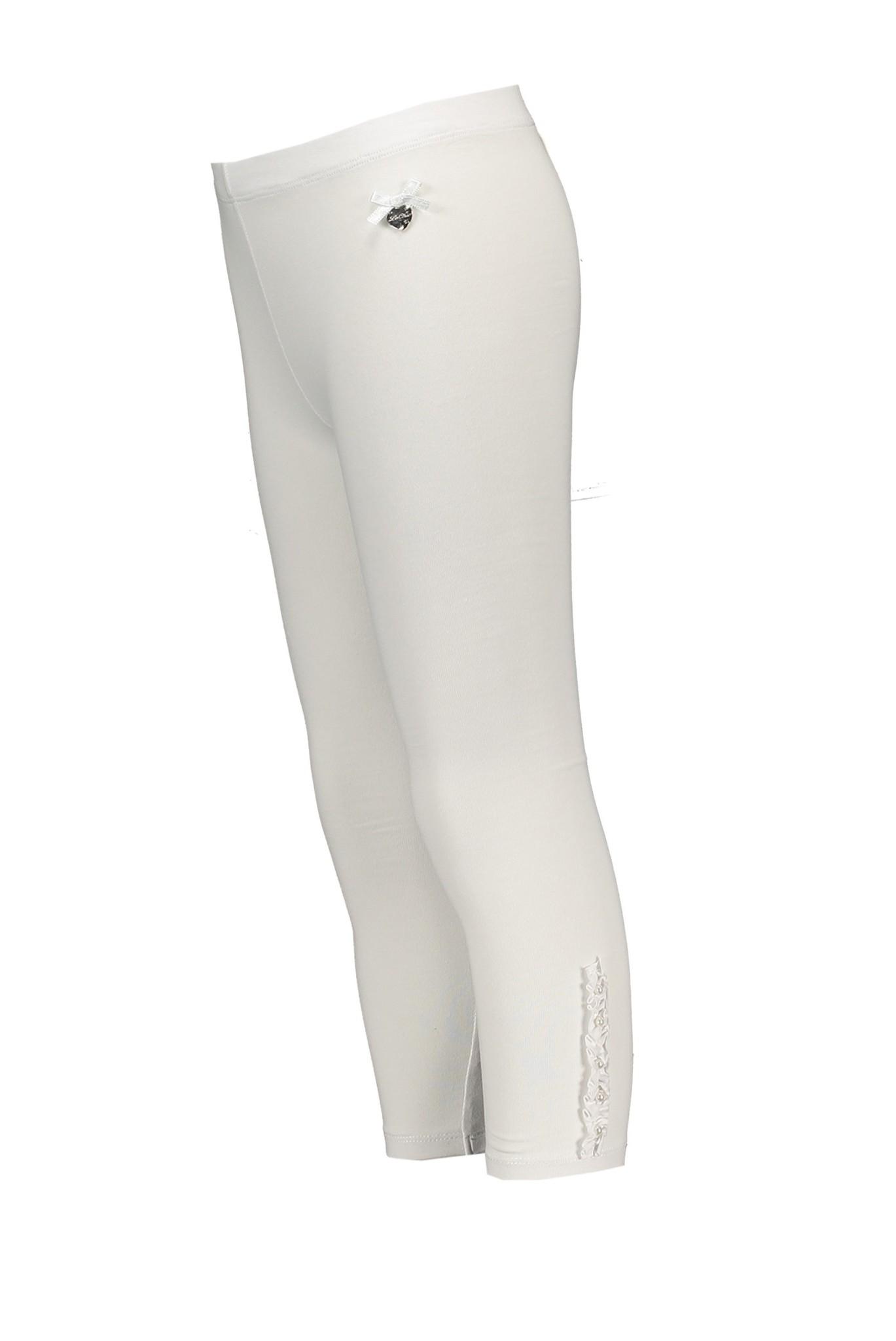 Lechic Le Chic Ruffle & Pearl White Legging