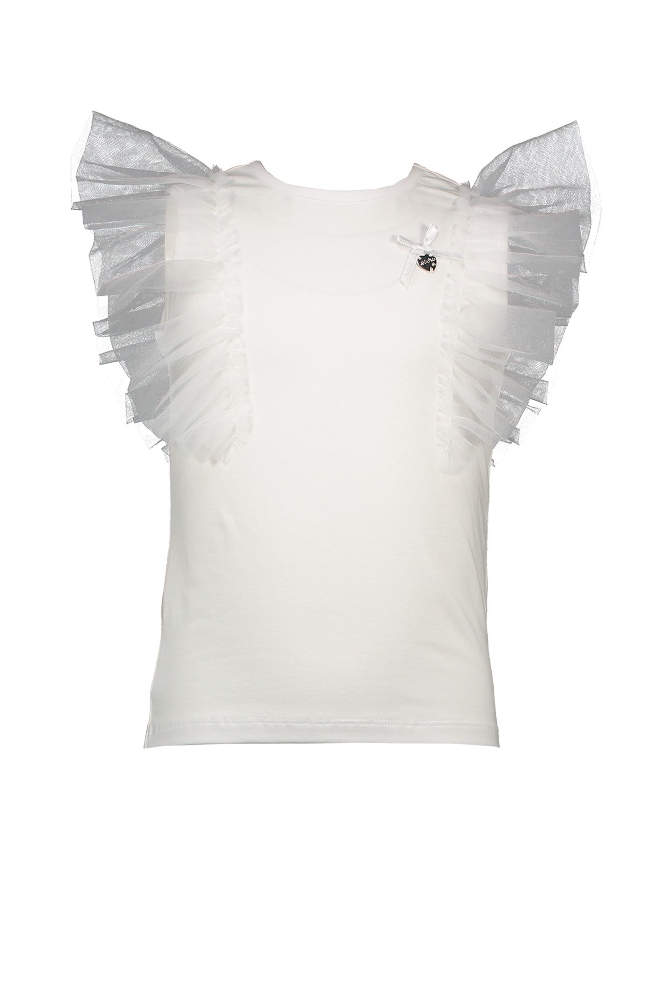 Lechic Le Chic White Tulle Sleeved T-shirt
