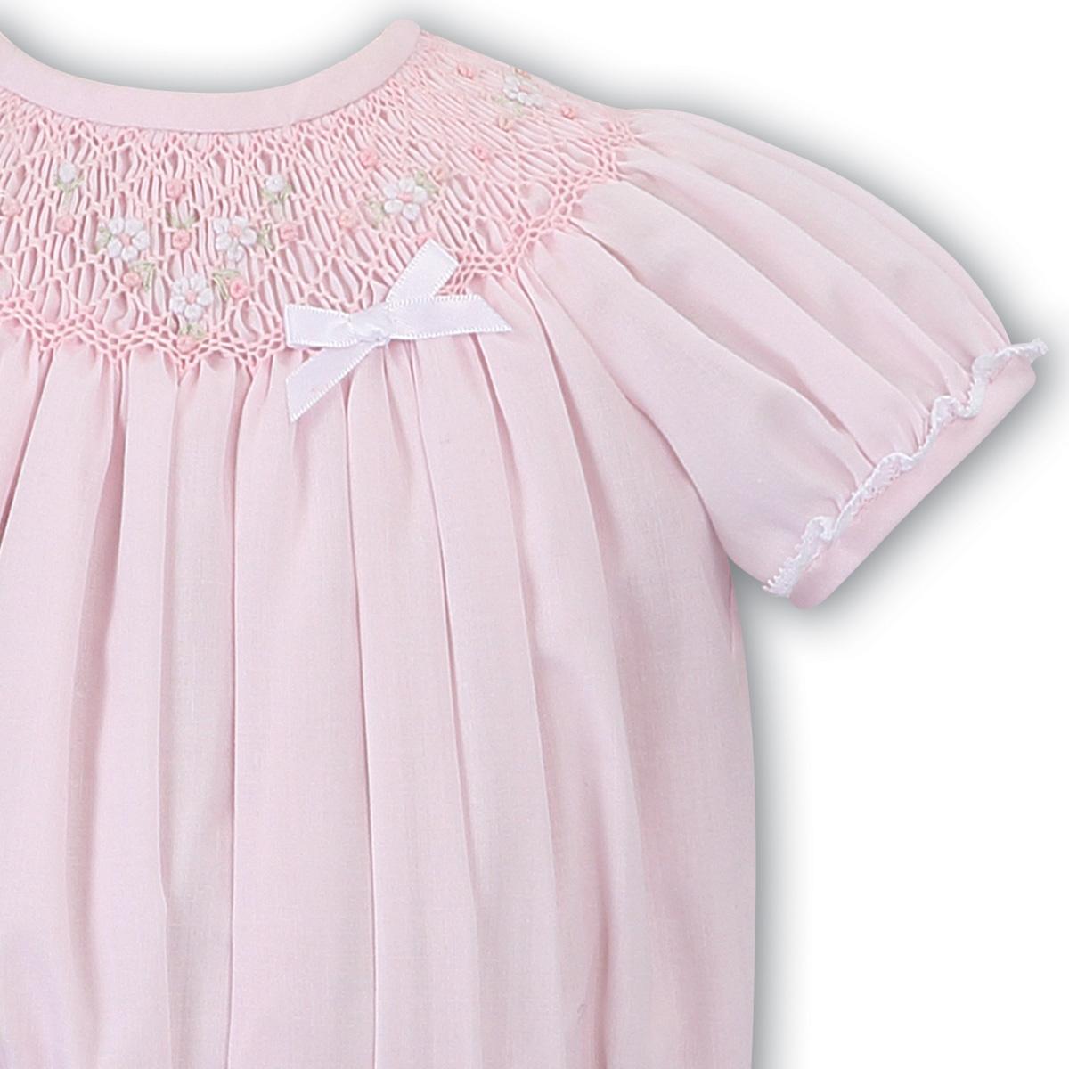 Sarah Louise Sarah Louise 011632 Pink Smocked Bubble Romper