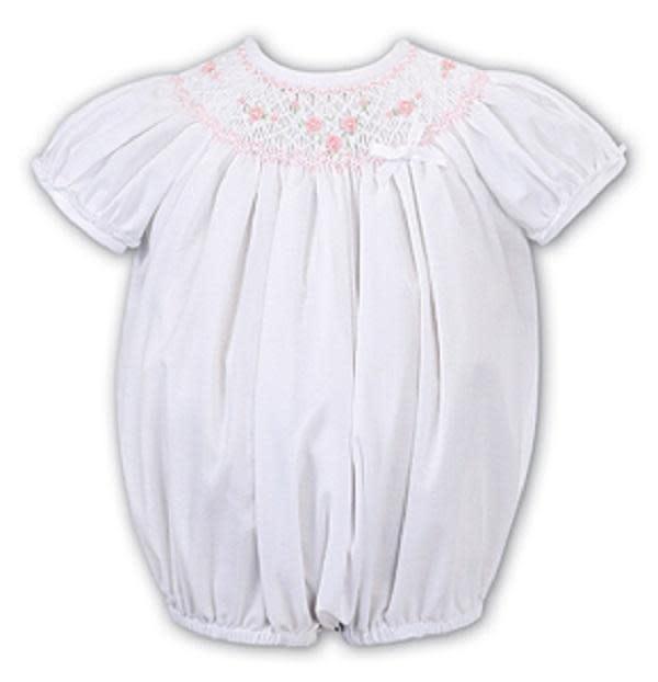Sarah Louise Sarah Louise Baby Girls White Romper C6004NS