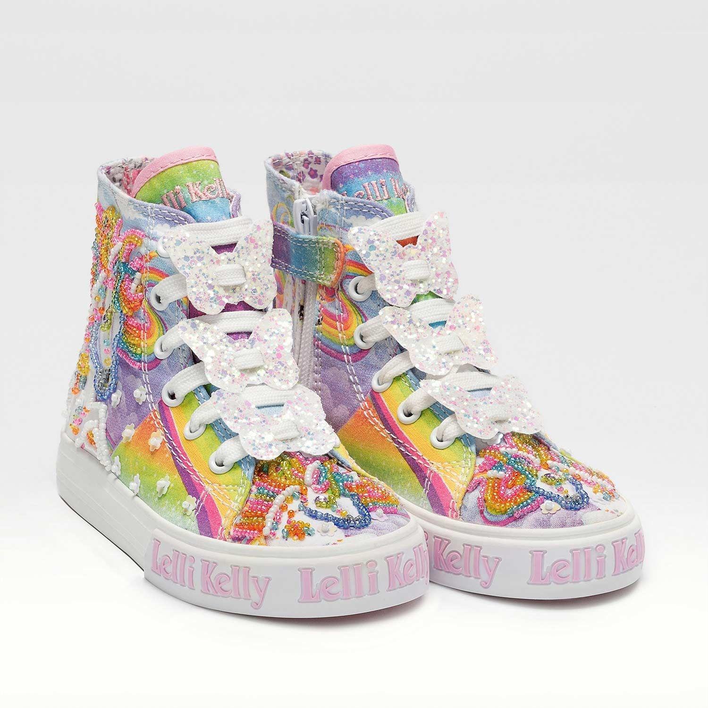 LELLI KELLY Pink Unicorn Mid Canvas Boot 9090