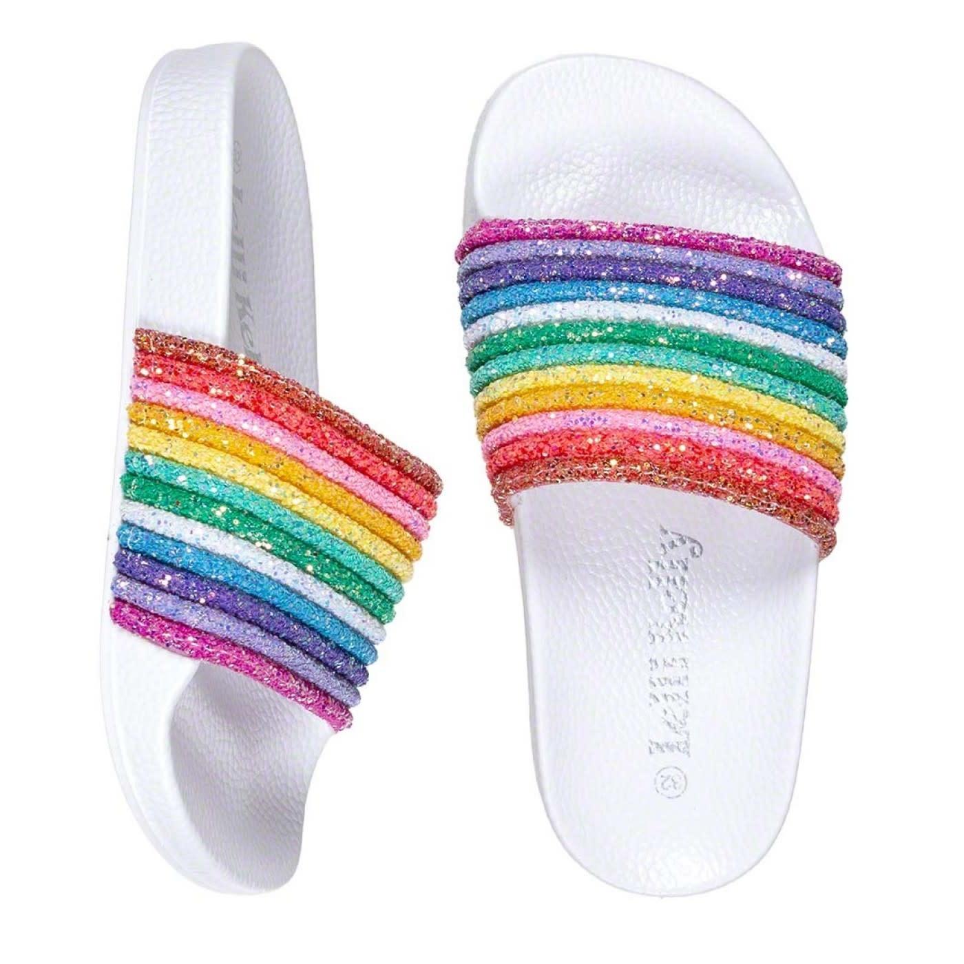 Lelli Kelly LK 1902 Iris Rainbow Glitter Slider