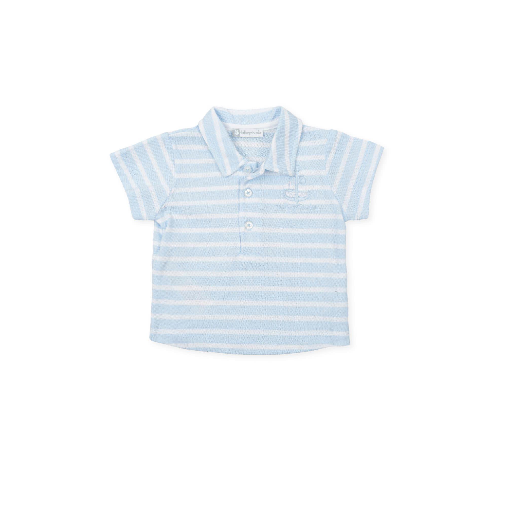 Tutto Piccolo Tutto Piccolo Stripe Polo Top & Shorts 1822-1322