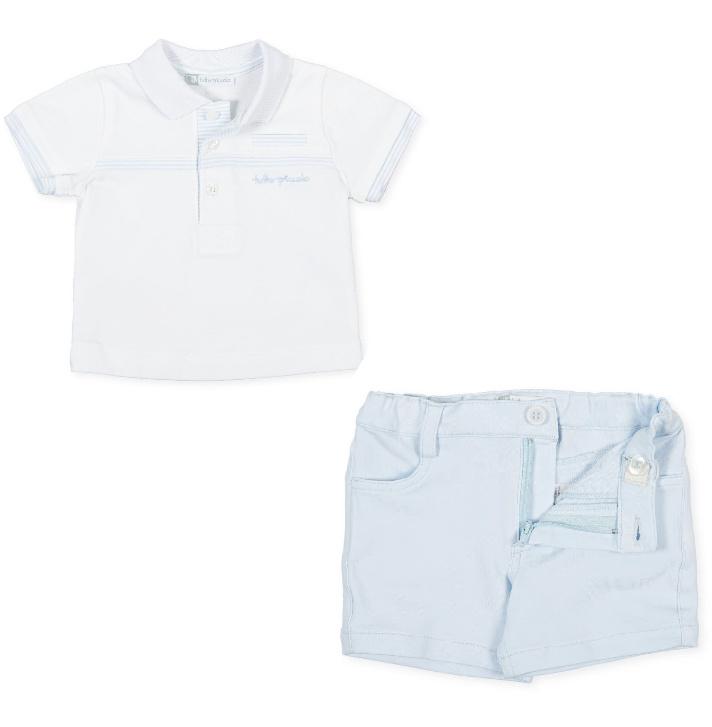 Tutto Piccolo Tutto Piccolo Sky Polo Top & Shorts 1811-1311