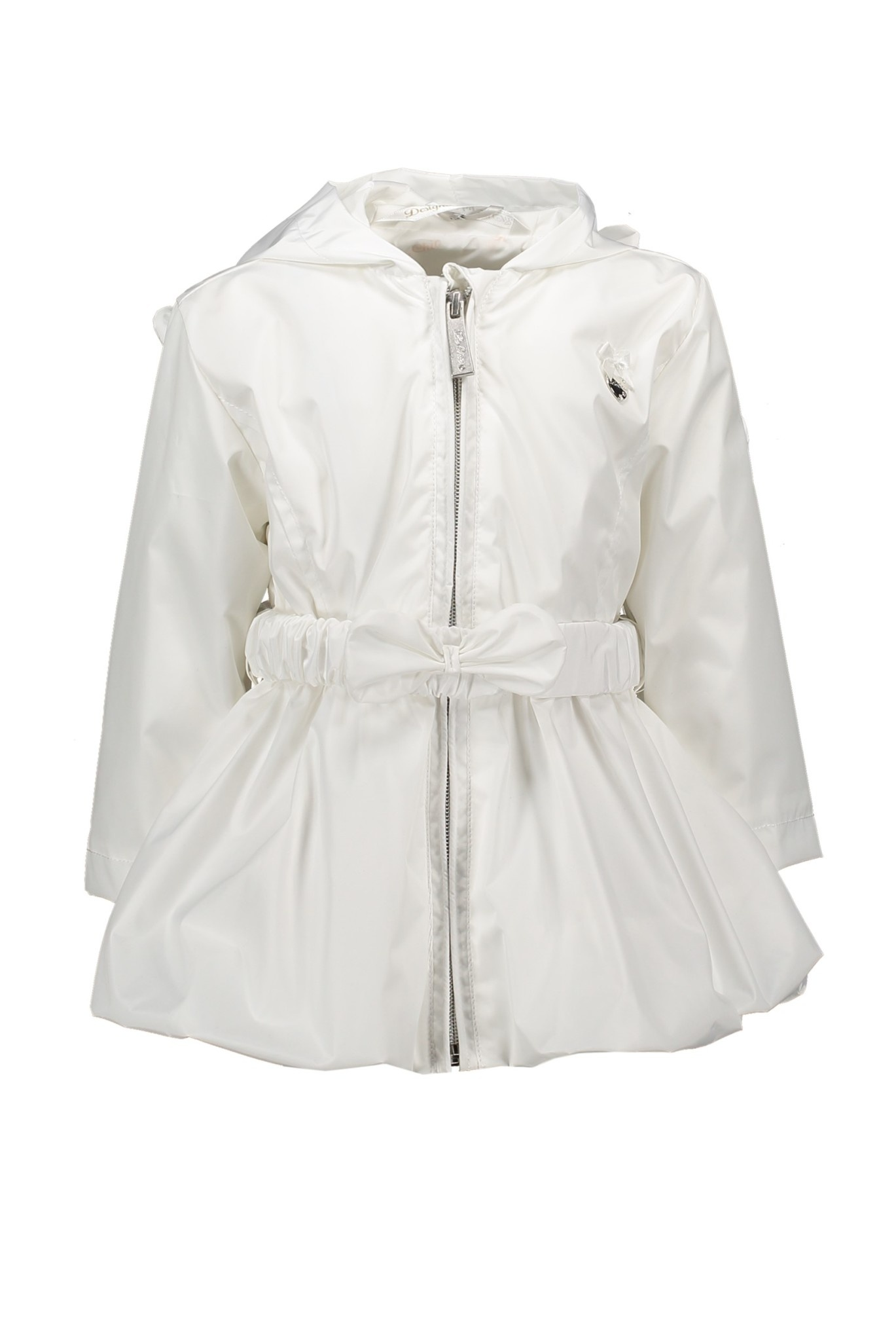 Lechic Le Chic White Bow Belt Coat 7209