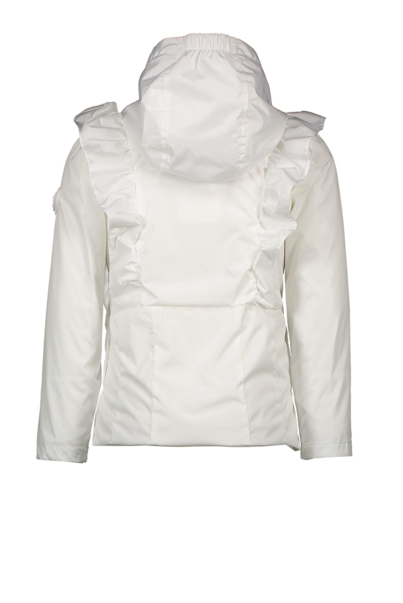 Le Chic Short White Ruffle Coat 5202