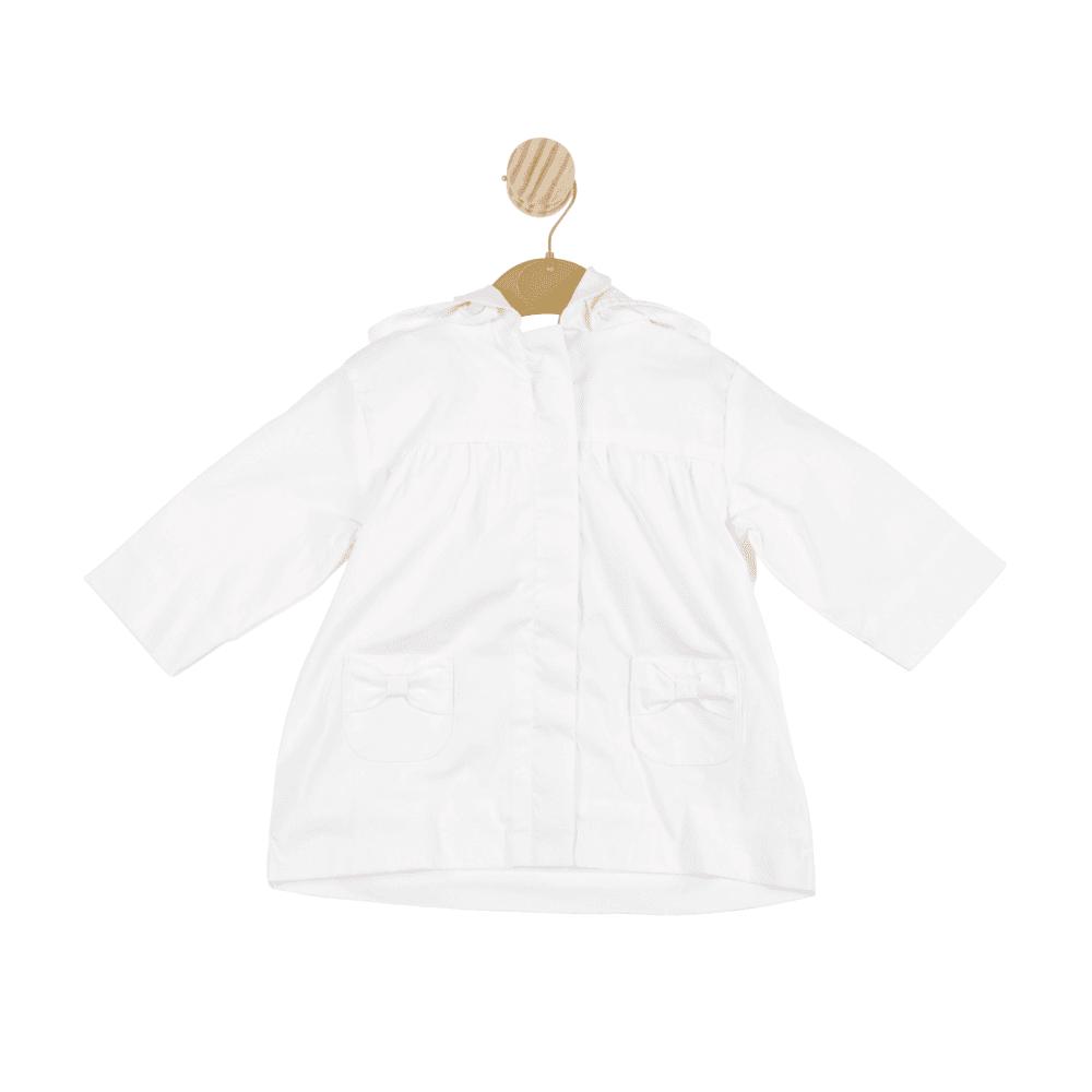 Mintini Mintini Girls Bow White Coat MB3329
