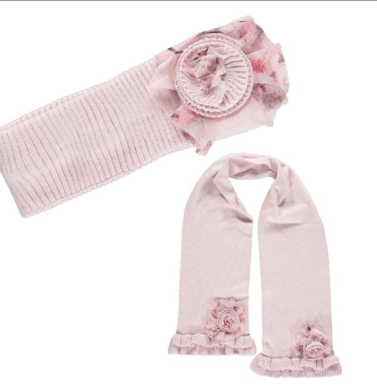 A Dee Adee Pink Headband & Scarf
