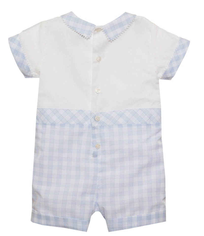 Patachou Patachou Boys Cotton Checked Romper 3068 S21