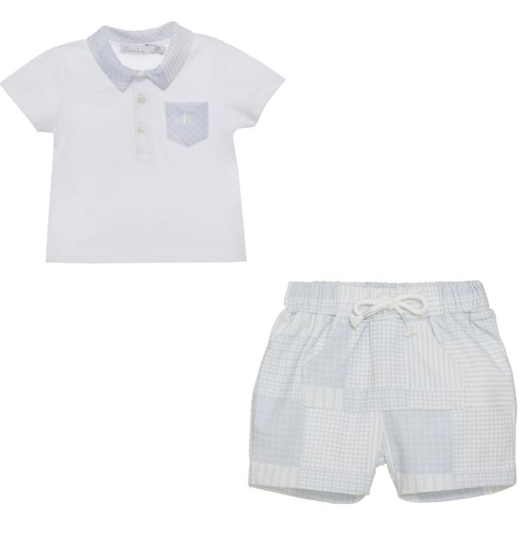 Patachou Patachou Baby Boy Checked Polo Short Set 3083 S21