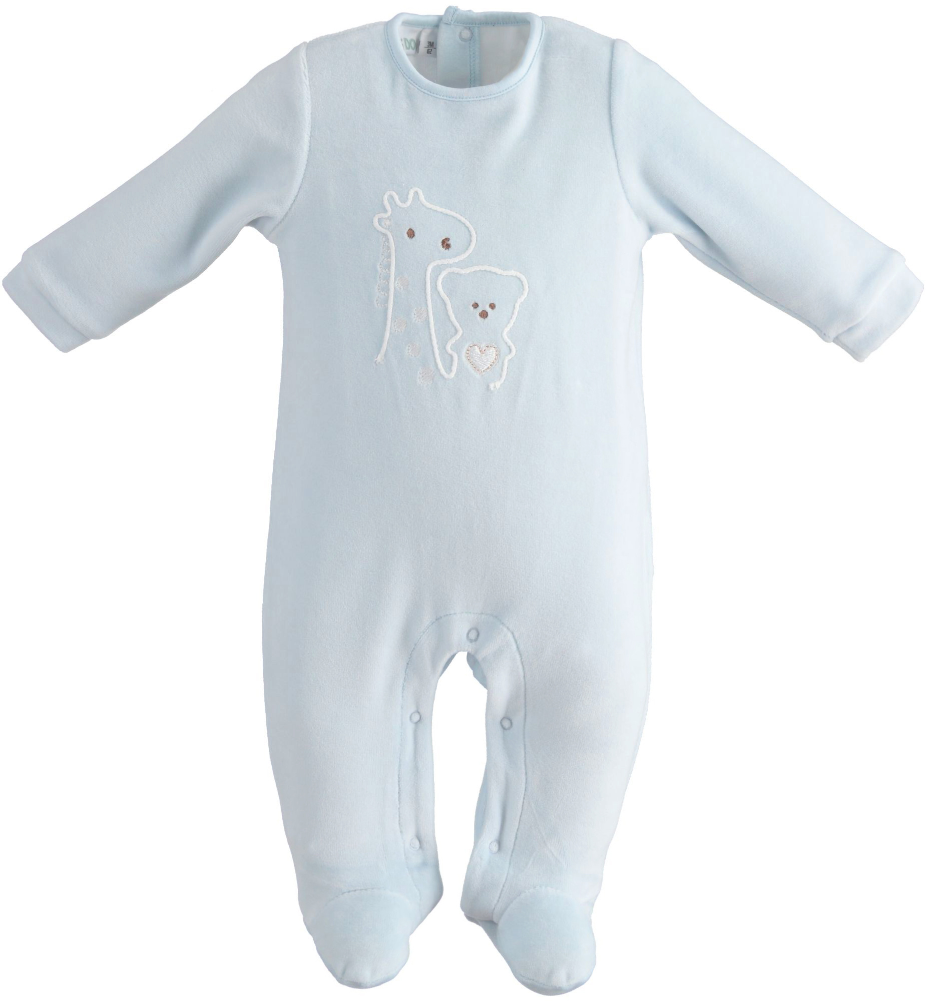 Ido Ido Giraffe Velour Babygrow 2183 S21