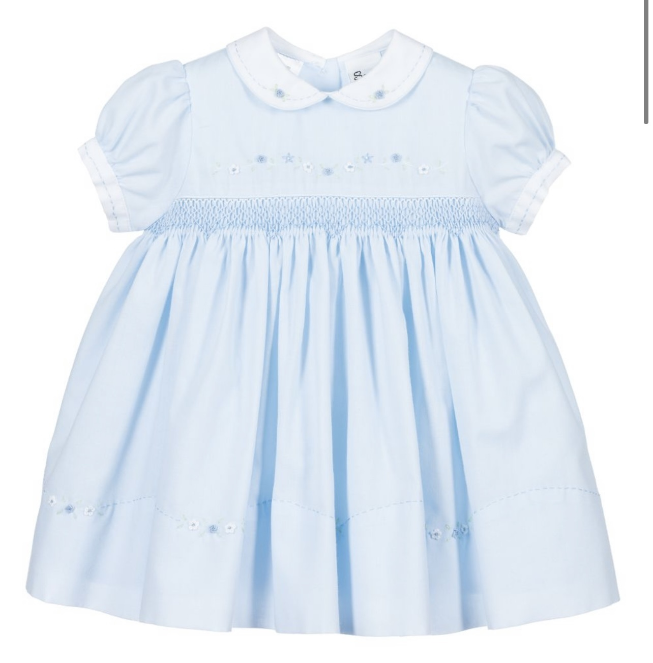 Sarah Louise Sarah Louise - Girls Blue Hand-Smocked Dress 237 S21