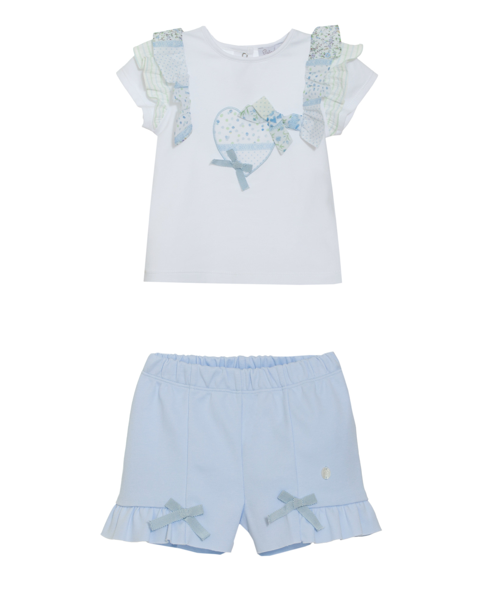 Patachou Patachou  Girls Blue Short Set   S21
