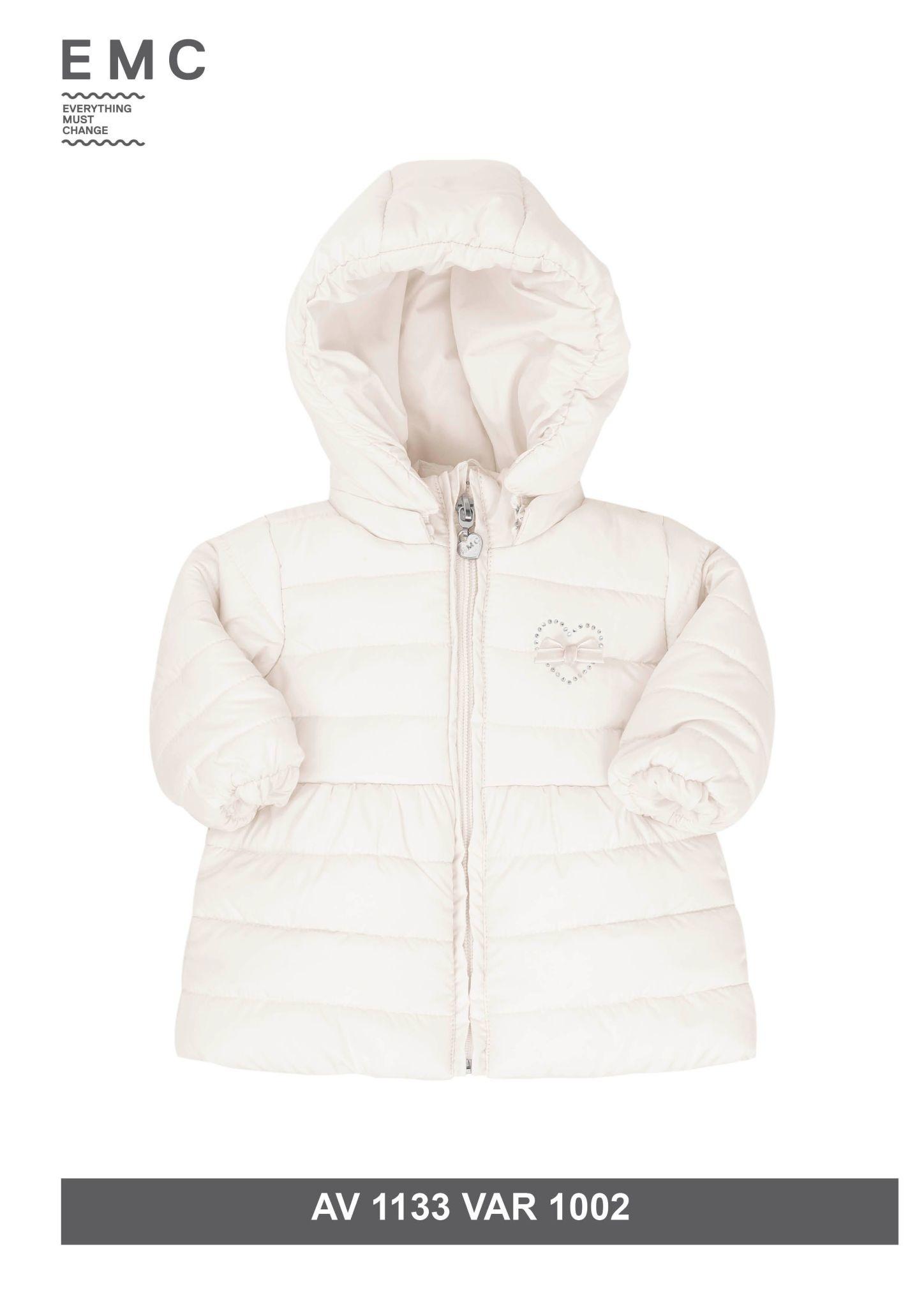 EMC EMC White Padded Loveheart Coat