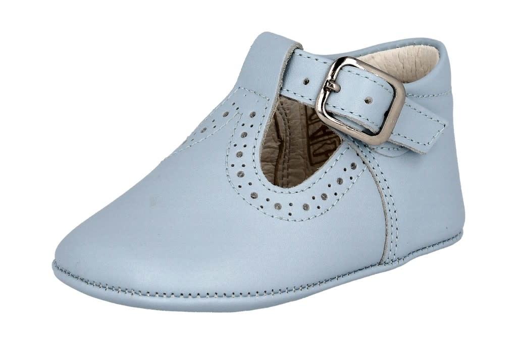 Andanines Andanines Blue Leather Pram Shoe 202801 S21