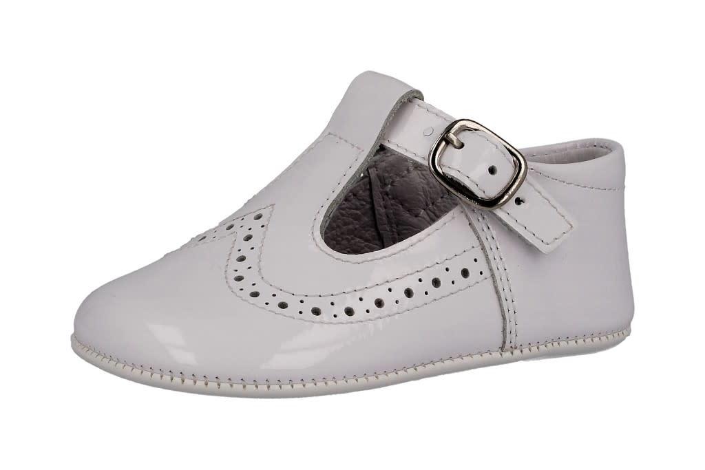 Andanines Andanines White Patent Pram Shoe 202800 S21