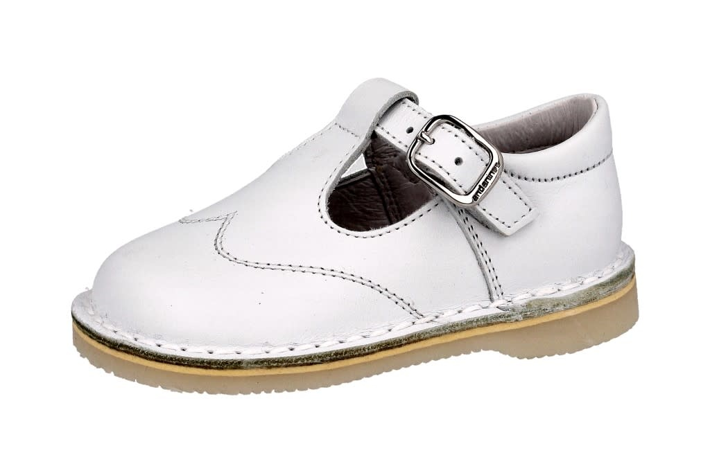 Andanines Andanines White T-Bar Shoe 171826 S21